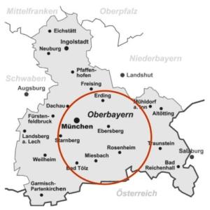 Trocknungseinsätze bei einem Wasserschaden in der Region Rosenheim, Bad Endorf, Ebersberg, Prien, Wasserburg, Miesbach, Bad Aibling, Holzkirchen sowie München